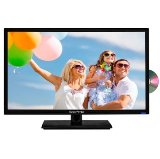 """LED TV Sceptre E246BD-F 24"""" Class 1080P Games Movies with Built-in DVD Player"""