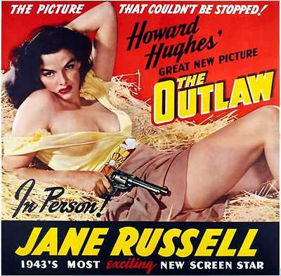 THE OUTLAW Movie POSTER 30x30 Jane Russell Jack Buetel Walter Huston Thomas