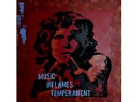 Original art by local artist. Jim Morrison. 90x90 cm