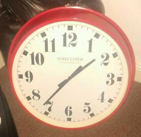 Giant 2ft Towcester Wall Clock in Red
