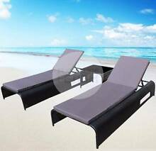 Outdoor Rattan Wicker Sun Lounge Set - 2 Beds + Side Table Nerang Gold Coast West Preview