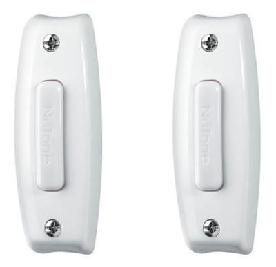 2 Broan Nutone PB7LWH White Wired Lighted Push Buttons for Door Bell Chimes  ()