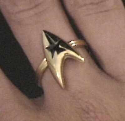 Star Trek Command Insignia Ring 3/4 inch Gold (STJE-051-R)
