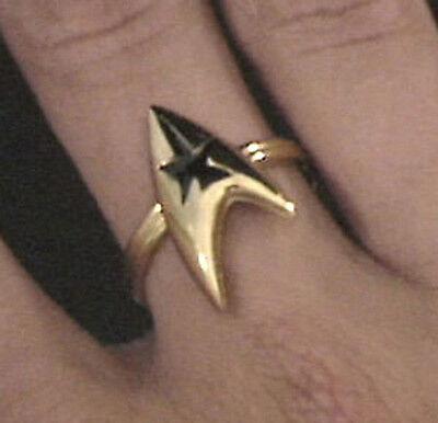 Star Trek Command Insignia Ring 3/4 inch Gold (STJE-051-R)