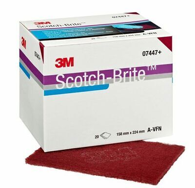CHEAPEST *****3M SCOTCH-BRITE HAND PAD 7447+ CLEANING & FINISHING PADS RED*****