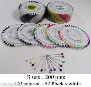 wholesale 5 sets 200 pcs Islamic Scarf Hijab Small pins Shayla Colors & black