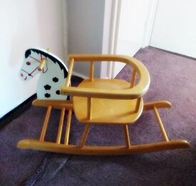 Vintage Traditional Wooden Rocking Horse-Chair