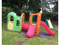 Little Tikes/Tykes Tropical Colours 8 in 1 Adjustable Playground, VGC, Can Deliver 60miles