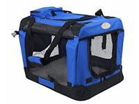 Easipet- Fabric soft pet crate/kennel. Size XL Blue