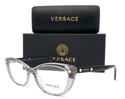 VERSACE VE3258 593 Gray Clear 53mm Eyeglasses