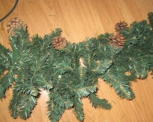 Nice garland with pine cones