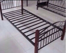 Single Iron & Wood Bed Frame - Very Good Condition Stanmore Marrickville Area Preview