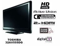 "Toshiba 32"" 720p HDMI LCD TV With Remote Control Freeview Free view Quicksale quick sale"