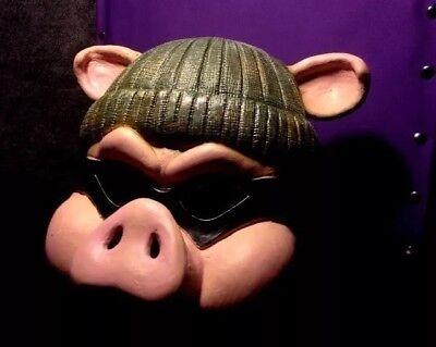 HALLOWEEN MASK HORROR PIG MASK FULL HEAD BURGLAR COSTUME JASON MYERS CLOWN (Halloween Burglar Costume)