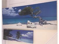 2 landscape canvases