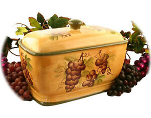 Sonoma-Collection-Deluxe-Hand-Painted-Bread-Box-Container-Jar