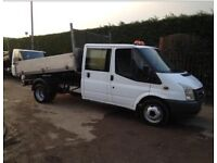 FORD TRANSIT FORD TRANSIT 2.4TDCi Duratorq (140PS) (DRW crewcab TIPPER CHOICE OF 3 EX COMPANY TRUCK