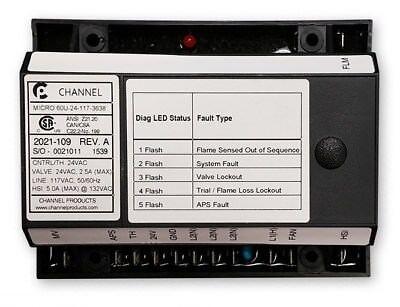 Channel Micro 60u-24-117-3638 24v Circuit Board 2021-109 Rev. A Tp-211a