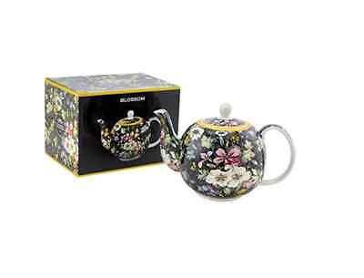 William Kilburn Blossom Design Teapot Fine China Tea Pot Gift Boxed Fine China Teapot