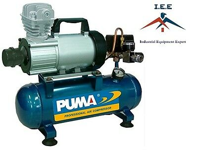 Pd1006 Puma 12 Volt Air Compressor 3.5 Cfm 1 Hp 150 Psi 1.5 Gallon Tank