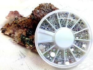 NEU Nail Art Strasssteine Diamant Effekt Nagel Design 300 Stück 4 Größen NEU&OVP
