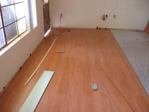 FROM $ 0.99 /SQFT LAMINATED FLOOR INS.