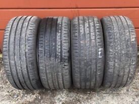 4X 245/40/18 Barum Brauris 3HM used/part worm tyres 6MM+ for Audi A4