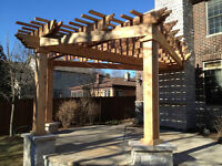 Cedar Fence and Deck Enclosure Gazebo Shed Pergola Contractor
