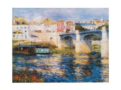 Pierre Auguste Renoir Brücke (Pierre-Auguste Renoir Brücke in Chatou Poster Bild Kunstdruck 23,5x30cm)