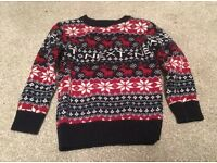 Boys Next Christmas jumper size 2-3 worn once