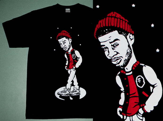 New Kid Cudi shirt Cleveland's finest solo dolo white cement  3's caj mear sz M