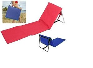 2x portable foldable beach picnic mat camping deck chair for Chaise longue plage pliable