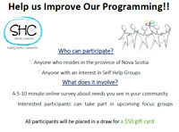 Self Help Connection Seeks Input! Survey and chance to win $50