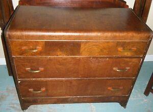 Antique 3 drawer dresser on casters