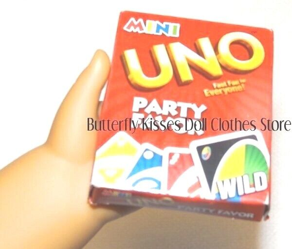Mini Uno Playing Card Game 18 in Doll Clothes Accessory Fits