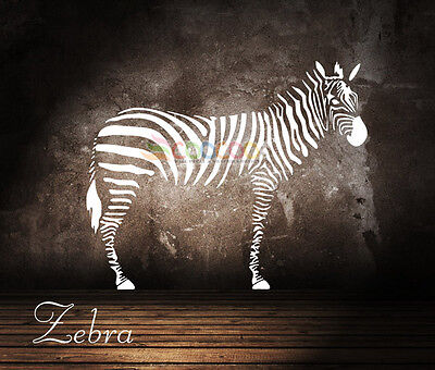 Wall Decor Decal Sticker Mural Removable Large Zebra DC0092  - Zebra Decorations