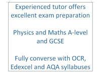 Physics and Maths A-Level / GCSE tutor