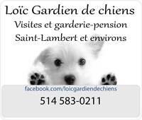 Gardiennage Garderie pension pour chiens, visite à domicile
