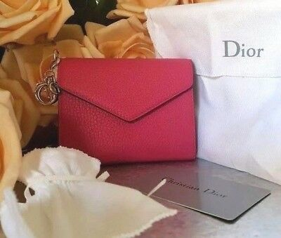 ❤️100% Authentic NEW Dior DIORISSIMO envolee  Wallet  credit cards coin Purse