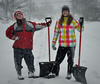 Snow Removal Girls Winter Season Property Services