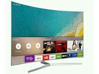 "Samsung CURVED UE55KU6500 55"" 4K HDR Ultra-HD Smart LED TV 1600 PQI Silver screen mirror."