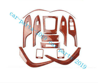 13PCS Peach Wood Grain Car interior kit Cover Trim For Toyota Corolla 2007-2013 for sale  Shipping to Canada