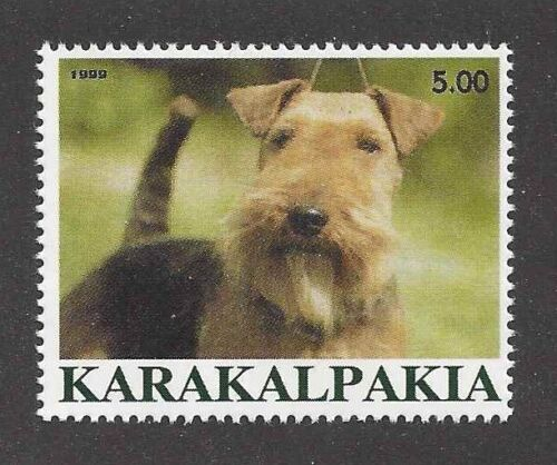 Dog Photo Head Portrait Postage Stamp Collection WELSH TERRIER Karakalpakia MNH
