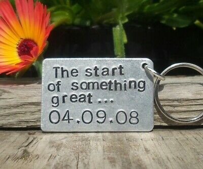 Personalized Valentines Day Keyring Cute Gifts For Boyfriend Girlfriend Him Her ()