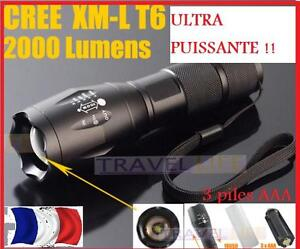 ultra puissante top qualite 2000 lumens torche led aventure voyage survie ebay