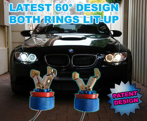 BMW-Angel-Eyes-H8-LED-Marker-Bulb-M3-CREE-8W-USA-MADE-LUX-V4-HALO-RINGS-DIPPED