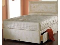 BRAND NEW DOUBLE DIVAN BED BASE WITH 1000 POCKET SPRUNG MATTRESS £189