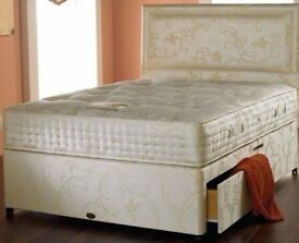 GET IT TODAY SINGLE/DOUBLE & KING SIZE DIVAN BED WITH 10'' ORTHOPAEDIC MATTRESS **SAME DAY DELIVERY*