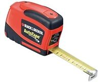 Black and Decker Auto, (Power), Tape 25ft