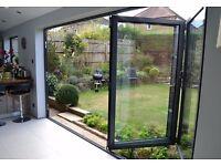 Ex Display - Black 4 Leaf Bi Folding Doors